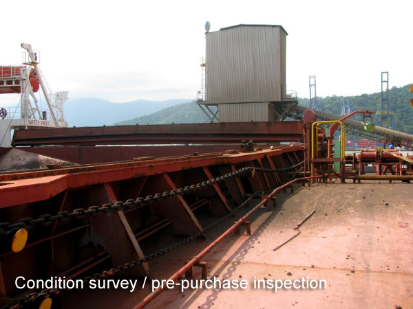 Condition survey and pre-purchase inspection in Brazil is a third-party inspection to provide an independent report about the general condition of a vessel.